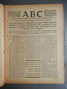 TOMA DE LLANES, REINOSA, POTES. AVANCES LEÓN PERIÓDICO GUERRA CIVIL 7/09/1937