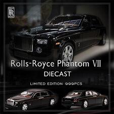 1:64 Rolls Royce Phantom VII Black Diecast Model Car