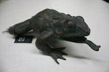 Rottenecker Bronze Frosch Spitzmaul wasserspeiend Gartendeko Tierwelt 88143