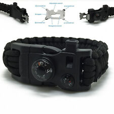Camping Multi Tool Outdoor Hiking Survival Emergency Paracord Bracelet 15 In 1