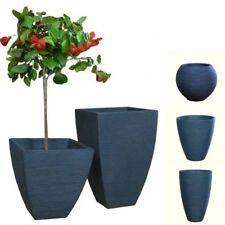 Pflanzkübel *Riffel* Anthrazit Kunststoff frostfest Blumenkübel geriffelt
