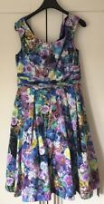 Debut floral prom Dance Evening party Cocktail Rockabilly dress 12 UK RRP £85.00