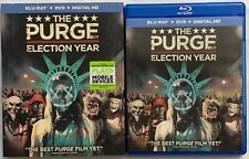 THE PURGE ELECTION YEAR BLU RAY DVD 2 DISC SET + SLIPCOVER SLEEVE HORROR SCARY