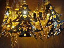 Splendido 10 Oro Metallo Albero stringa/Lucine-ideale per natale tavola/Vaso