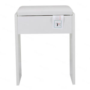 Dressing Table Stool Vintage Soft Makeup Bench Cushioned Chair Piano Seat White