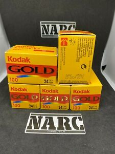 5x Kodak Gold 100  35mm 24exposures expired film out of date