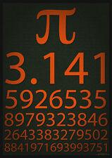 Póster enmarcado impresión-Pi 3.141 (imagen matemáticas Matemática Física de conocimiento de arte)