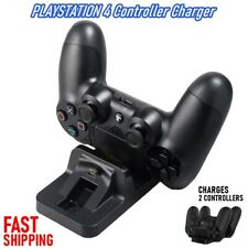 Dual Controller USB Charger LED Dock Charging Station Stand For PS4 PlayStation4