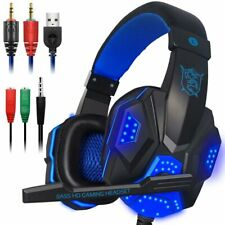 Gaming Headset with Mic and LED Light for Laptop Computer Cellphone PS4 and T...