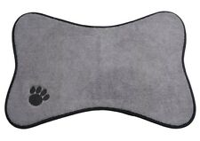 Microfiber Mats Medium Dog Bowl Place with Paw Print sophisticated High Quality