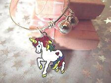 NUOVO Unicorno Cavallo, Pony bracciale con Charm Braccialetto Regalo] questo si adatta età 2 a 4 ANNO