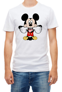 Mickey Mouse sarcastic face funny t shirts for men K268
