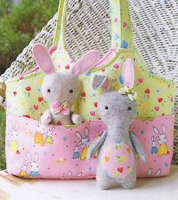 BAG O 'Coniglietti-Cucito Craft pattern-Borsa per Bambini Coniglio Bunny