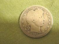 1911-D   Barber  Quarter(Better Date)