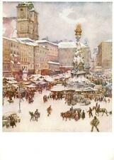 43019751 Linz Donau Winter Originalaquarell Weidinger Linz
