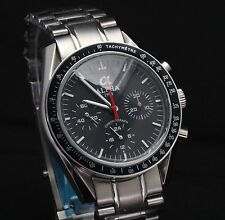 Alpha Speedmaster Chronograph watch Black Dial  Brand New Limited Edition
