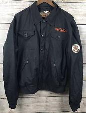 Harley Davidson Nylon Embroidered Full Zip Riding Jacket Mens Size XL