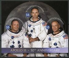 St Vincent & Grenadines 2018 MNH Apollo 11 Moon Landing 3v M/S Space Stamps