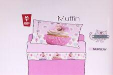 Set Lenzuola culla BIANCALUNA Cotone stampato Neonato Modello Muffin