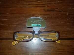 MAGNIVISION Elegant Eyes Reading Glasses  SUSAN B +1.50 NWT