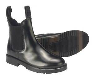 RHINEGOLD CHILDS JODHPUR BOOTS all sizes black or brown leather riding boots