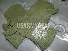 US Army Military Wool Trigger Finger Mitten Liners Cool Sniper Gloves Large L GI