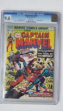 Captain Marvel  #38  CGC  9.6  NM+   wht pgs  Watcher App. 5/75 A.Milgrom Cover