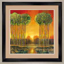 """35W""""x35H"""": TRANQUIL EMBRACE by FORD SMITH - DOUBLE MATTE, GLASS and FRAME"""