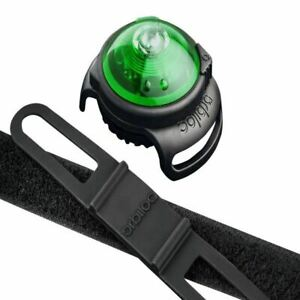 Green Waterproof Durable Dual Flashing/Solid Safety LED Light for Dog Walk