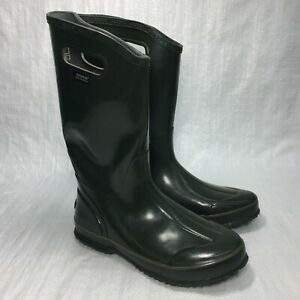 Used Bogs 71287301 Solid Forest Green Rubber Lightweight Womens Rainboots Sz 9