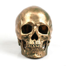 Bronze Totenkopf Deko Realistisches Form Dekorativ Scare Zahlen Geschenk Resin