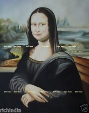 Handmade Oil painting Artist Canvas Indian Monalisa Fine artwork Mona Lisa