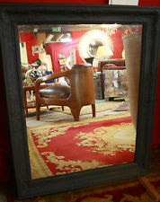 Glace / miroir de style Empire en bois noir mat