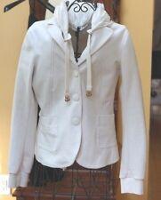 New Moncler Women's White Maglia Cardigan Jacket w/ removable lining Size Medium