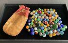 Estate Lot of Vintage & Antique Marbles w/Bag - Germans Mica Peltier Akro Vitro+