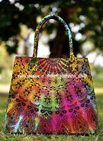 Indian New Tie Dye Mandala Purse Tote Bag Shoulder Handbag Cotton Women's