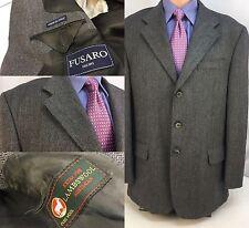 Fusaro Blazer 46R Gray Check 3b 2v Lambswool 46 R Worn Once Italy YGI 7664