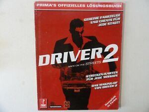 DRIVER 2  PRIMA´S OFFIZIELLES LÖSUNGSBUCH***Deutsch***guter Zustand***