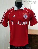 FC Bayern Munich Munchen #18 Red T-Com Adidas Soccer Climacool Jersey Men's Sz S
