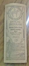 Santa Anita Park 1937 horse racing program signed by actor Joe E. Brown