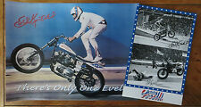 EVEL KNIEVEL POSTER COMBO- Two for $22- 11x17- London Pics & 18x24 Wheelie Pic!!