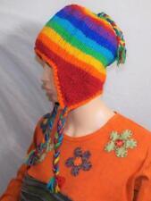 Commercio Equo E Solidale morbido cappello di lana fatto a mano INVERNO  Hippy Bo. 1b235d1e544e