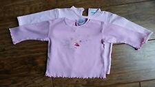 2 x Cherokee Pink Long-Sleeved Fairy/Butterfly Tops (9 - 12 Mths) - Exc. Cond.