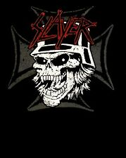 SLAYER cd lgo Torture Misery GRAPHIC SKULL Official SHIRT LRG New world painted