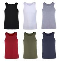 Men's Muscle Sleeveless Tank Top Tee Shirt Bodybuilding Sports Gym Fitness Vest