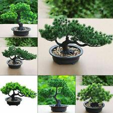 Planta Artificial Bonsai pequeño árbol falso inicio Jardín Decoraciones Ornamento UK