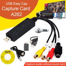 USB 2.0 Video Capture Card Converter PC Adapter TV Audio DVD VHS Window 7 8 10
