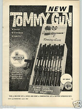 1963 PAPER AD Nichols Ind Toy Guns Rifles Store Display Army Tommy Guns