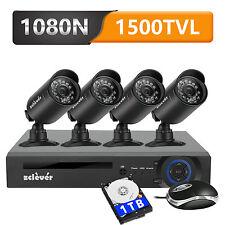 8CH 1500TVL DVR HD 720P CCTV Camera In/Outdoor Security Surveillance System 1TB