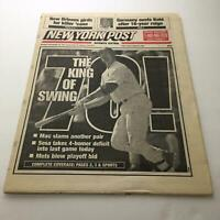New York Post: Sept 28 1998 The King of Swing Mark Mcgwire sosa 70 hr chase